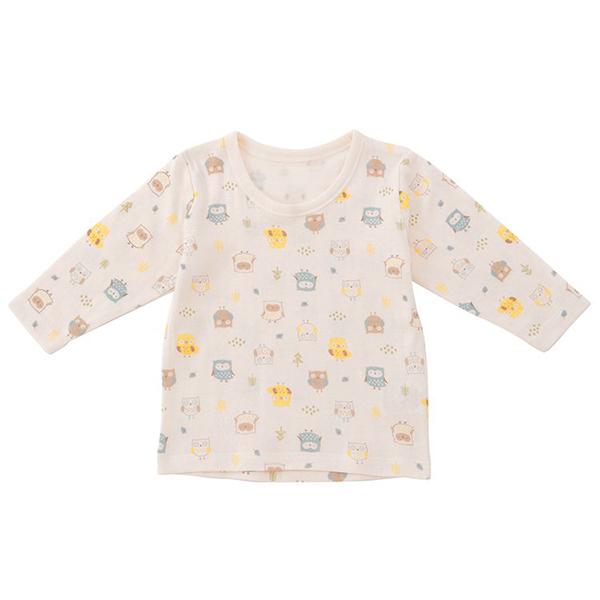 オーガニックコットンブレンド 接結天竺長袖シャツ 2枚よりどり本体価格1280円