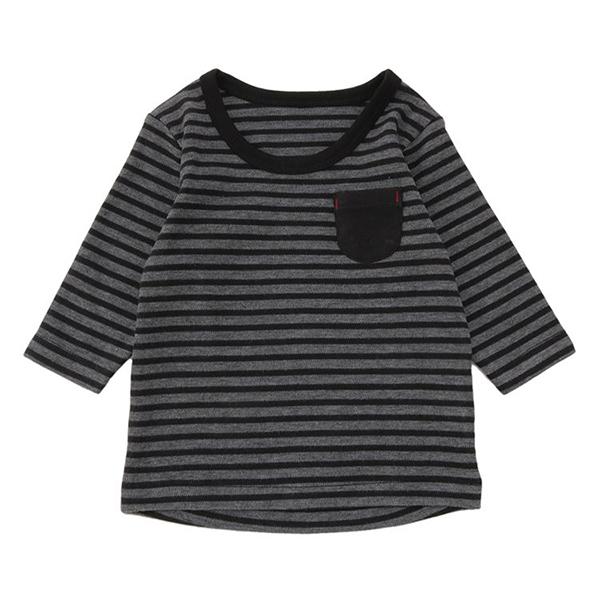 オーガニックコットンブレンド スムース長袖丸首シャツ 2枚よりどり本体価格1280円