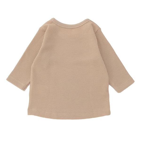 オーガニックコットンブレンド ワッフル編み長袖丸首シャツ 2枚よりどり本体価格1280円 商品画像 (0)