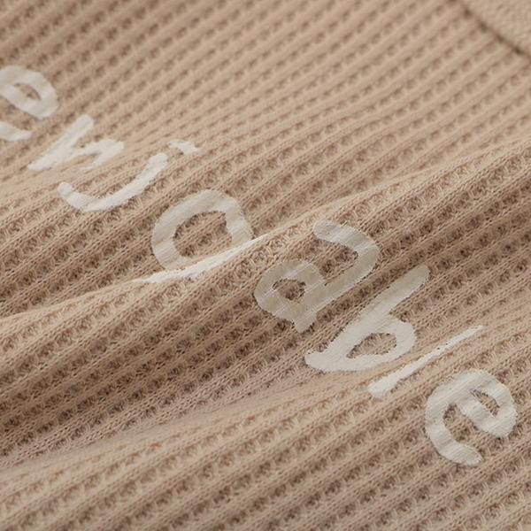 オーガニックコットンブレンド ワッフル編み長袖丸首シャツ 2枚よりどり本体価格1280円 商品画像 (1)