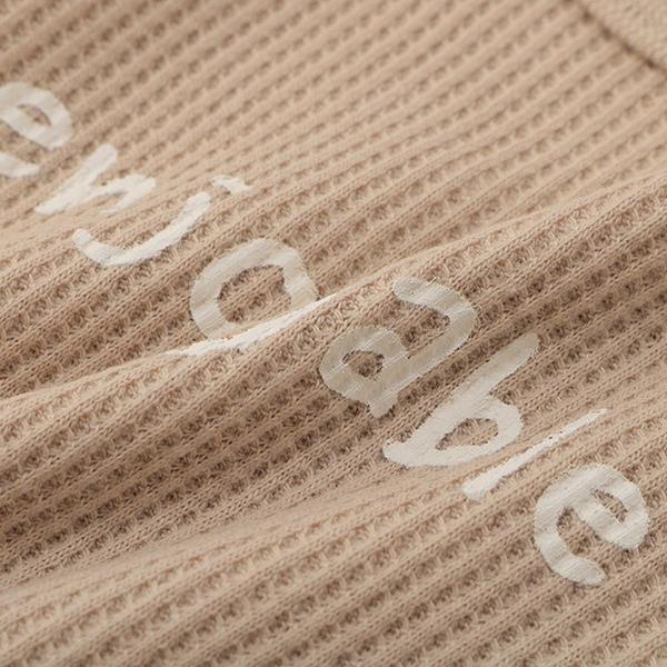 オーガニックコットンブレンド ワッフル編み長袖ショルダークロスボディスーツ 2枚よりどり本体価格1580円 商品画像 (1)