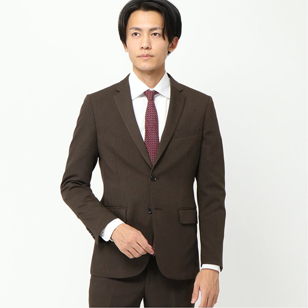 スーツ スリムノータック マジ楽トラベル