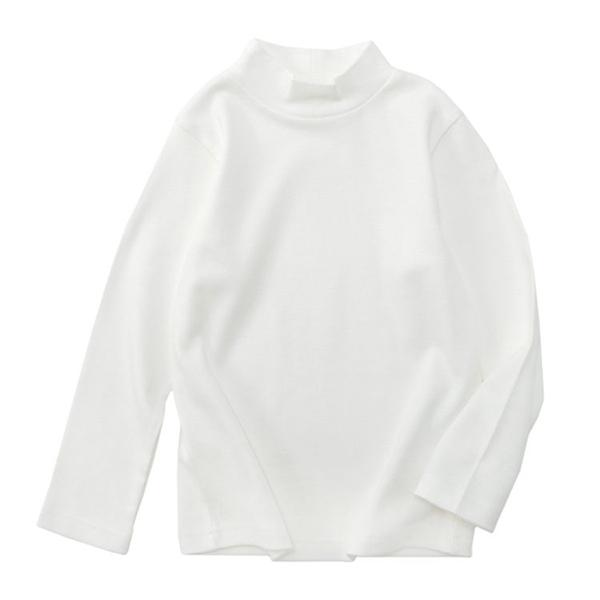 オーガニックコットン ハイネックTシャツ