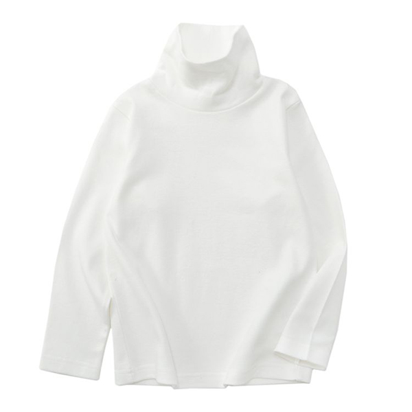 オーガニックコットン タートルネックTシャツ 商品画像 (メイン)