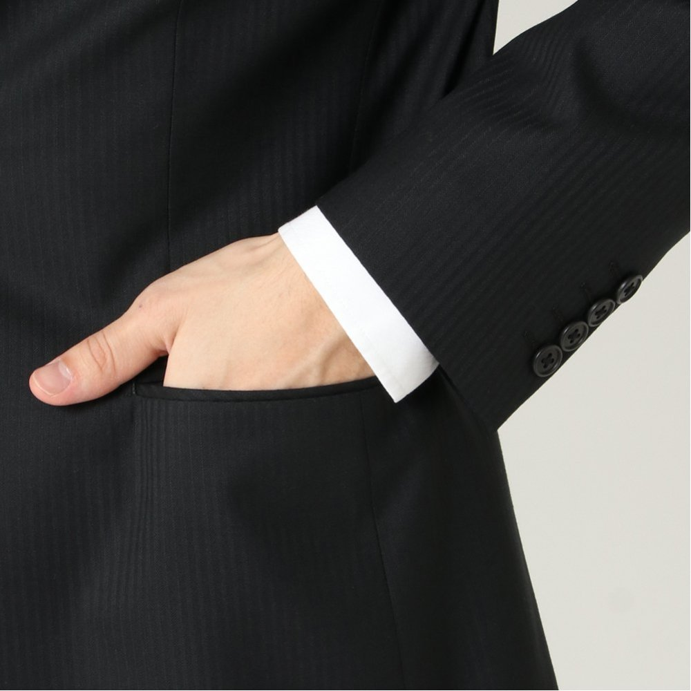 スーツ レギュラー ノータック 防しわ 伸縮 商品画像 (4)