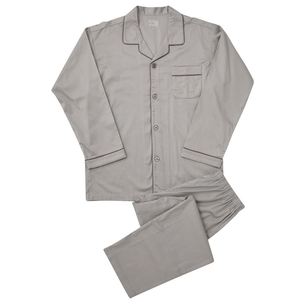 サテンストレッチシャツパジャマ (前開き)