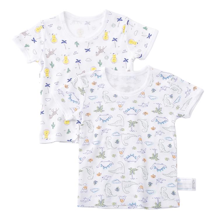 オーガニックコットンブレンド 半袖Tシャツ2枚組 商品画像 (メイン)