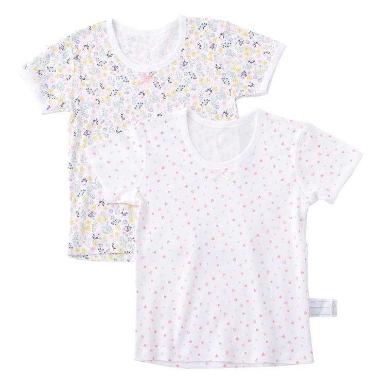 オーガニックコットンブレンド 半袖Tシャツ2枚組