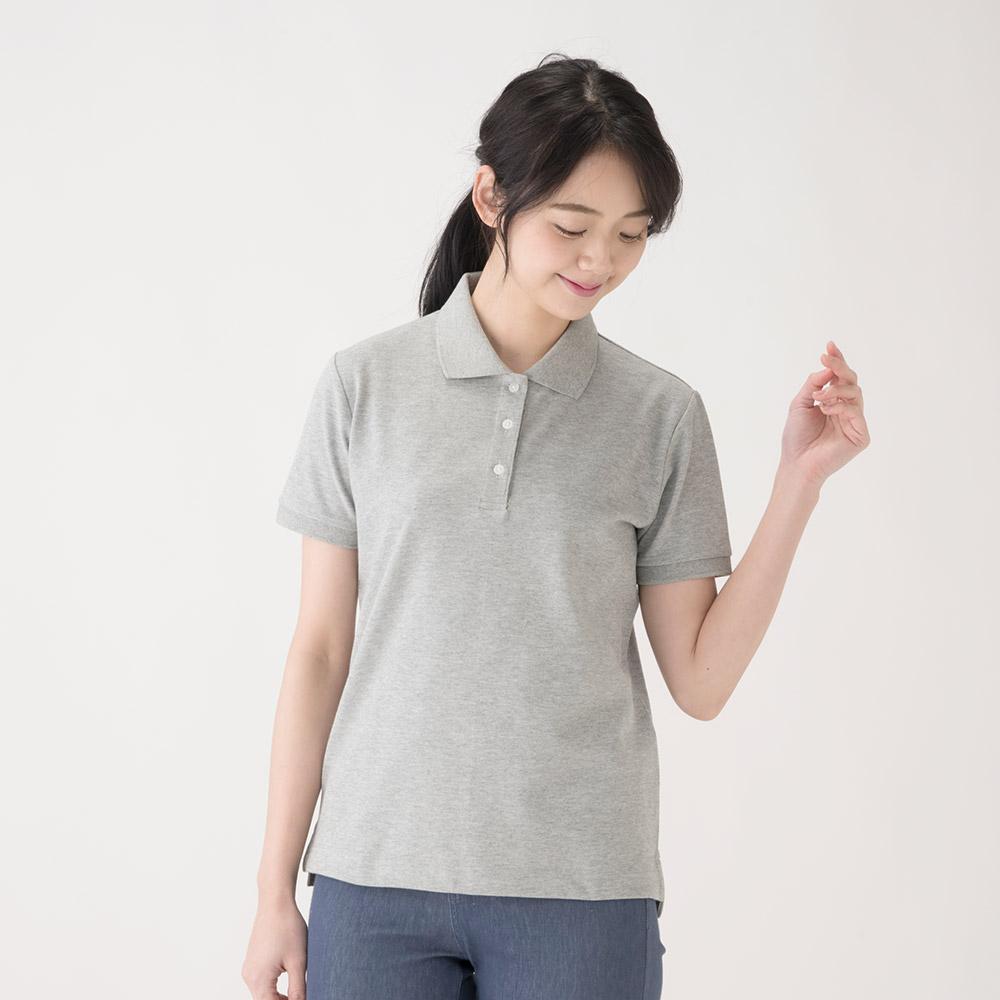 ポロシャツ 半袖 鹿の子 UVケア機能付