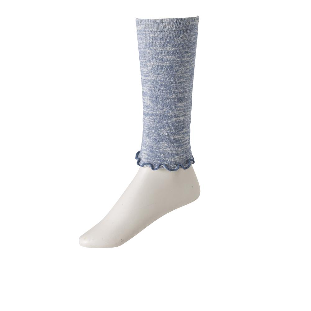 ショートレッグウォーマー パイル編み 表糸シルク混素材