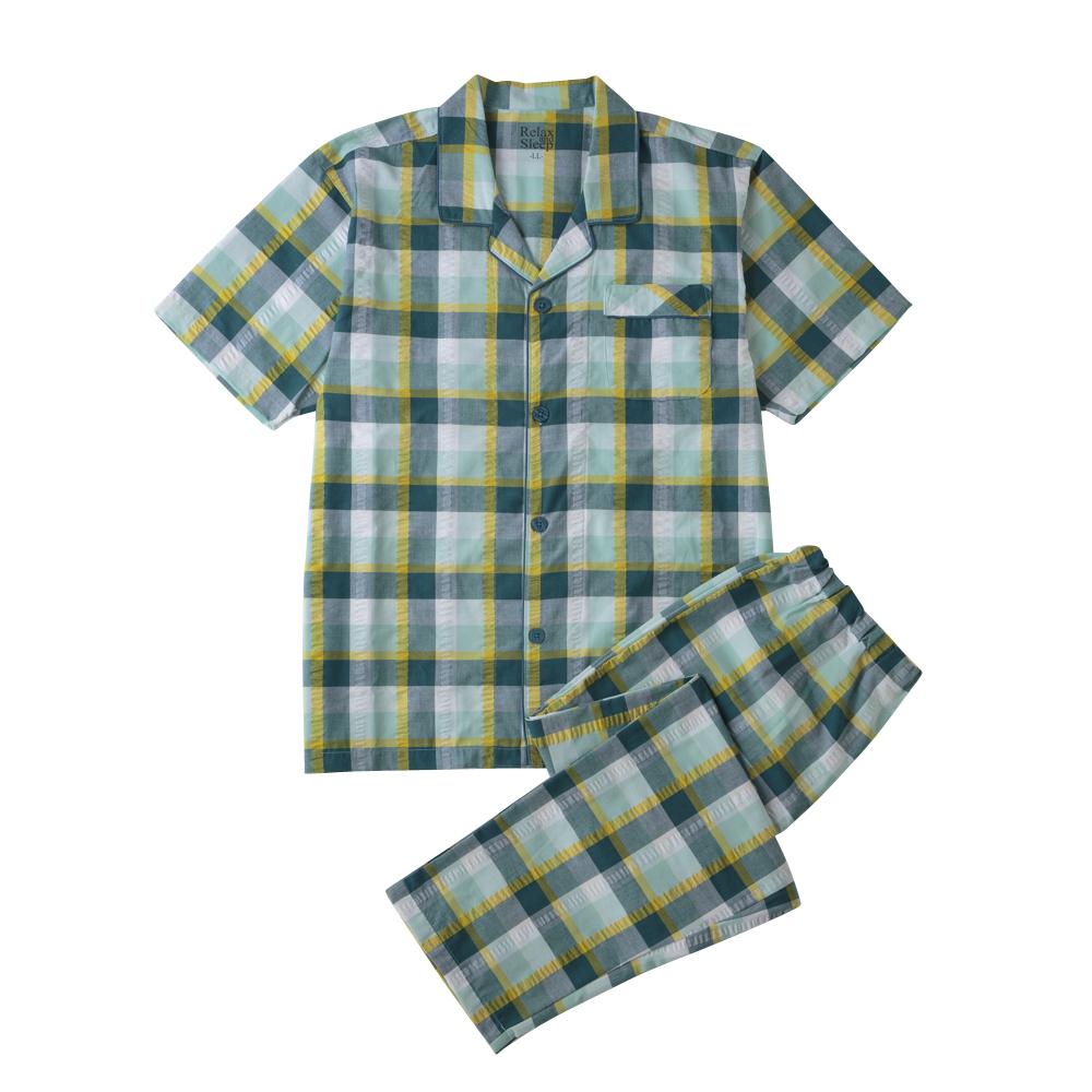 サッカー 半袖シャツパジャマ (前開き)