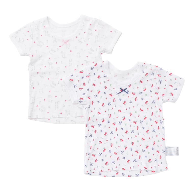 オーガニックコットン 半袖Tシャツ2枚組