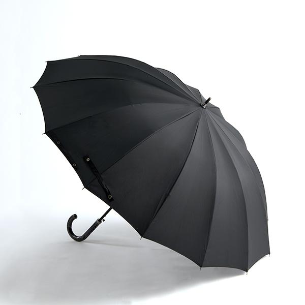 紳士多骨長傘無地