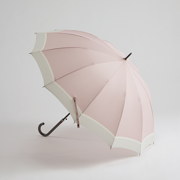 婦人長傘多骨カラーブロック