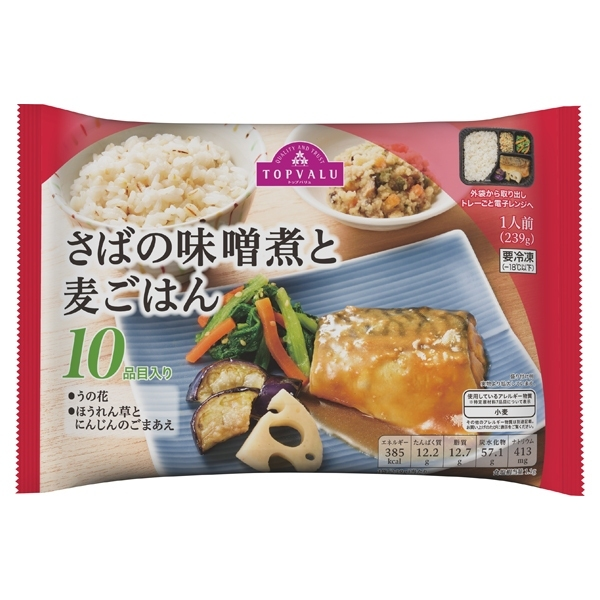 さばの味噌煮と麦ごはん 10品目入り 商品画像 (メイン)