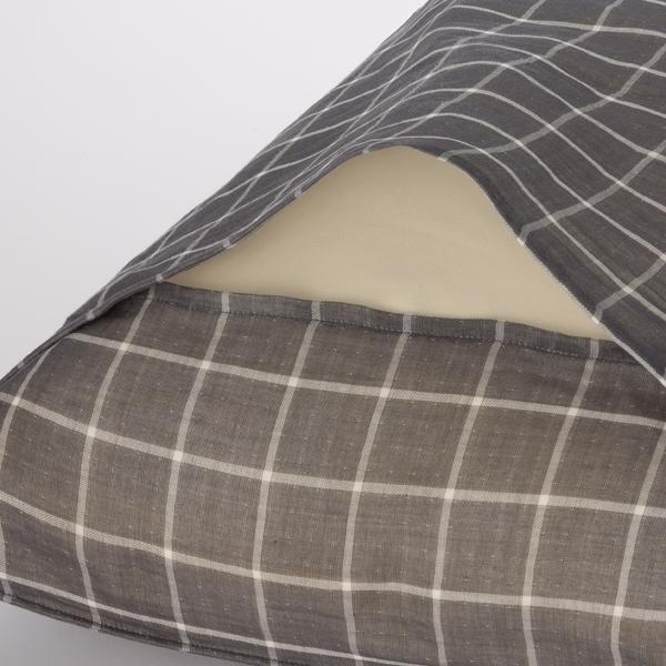 オーガニックコットンまくらカバー 先染め2重ガーゼチェック HOME COORDY 商品画像 (1)