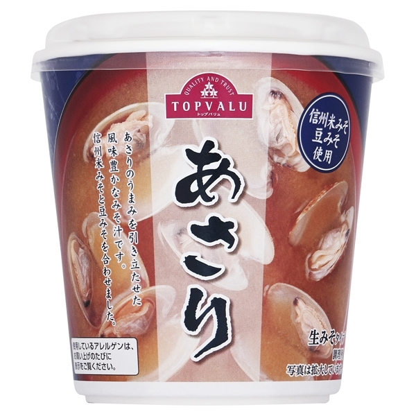 信州米みそ豆みそ使用 あさり 生みそタイプ 商品画像 (メイン)