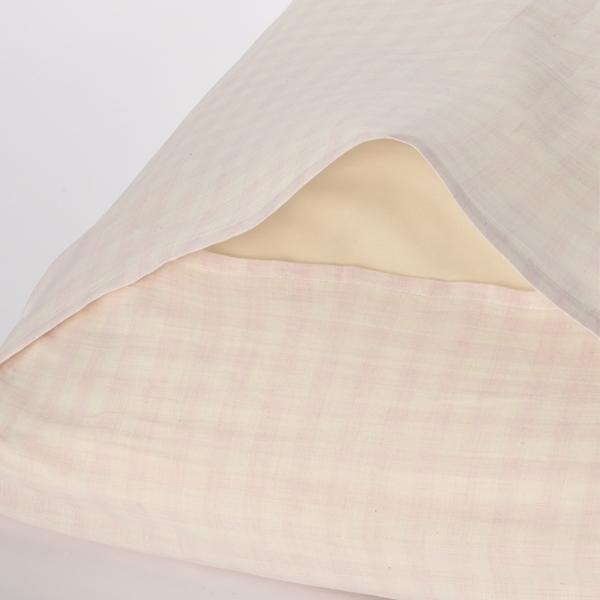 オーガニックコットン まくらカバー わた染水洗い HOME COORDY 商品画像 (1)