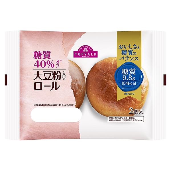 糖質40%オフ 大豆粉入りロール 商品画像 (メイン)