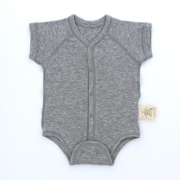 新生児半袖前開きボディスーツ 商品画像 (メイン)