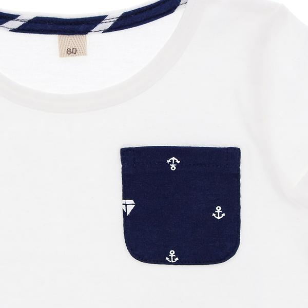 オーガニックコットン ポケット付半袖Tシャツ 商品画像 (0)
