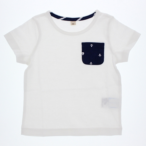 オーガニックコットン ポケット付半袖Tシャツ 商品画像 (メイン)