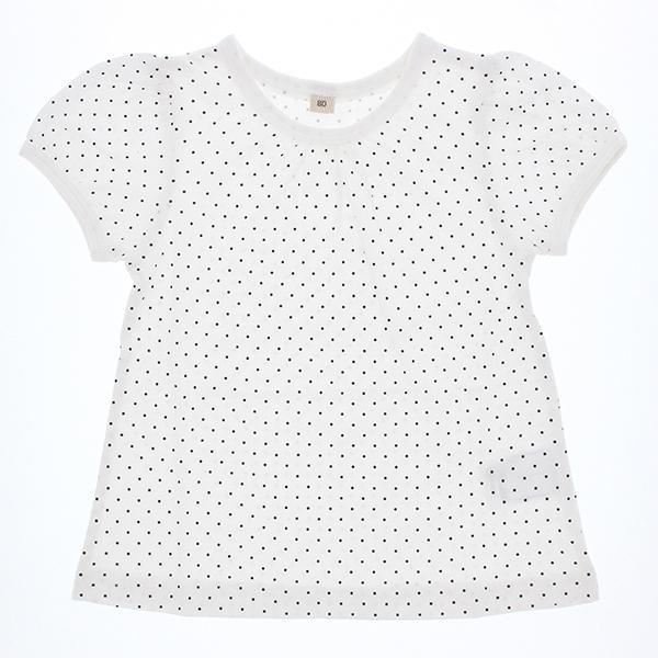 オーガニックコットン 水玉半袖Tシャツ 商品画像 (メイン)
