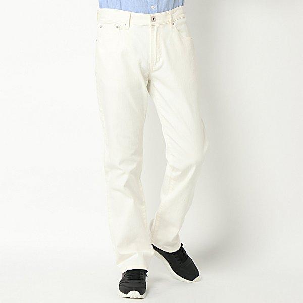【選べるウエスト&股下サイズ】ホワイトデニム5ポケットパンツ