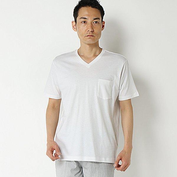強力抗菌半袖無地VネックTシャツ