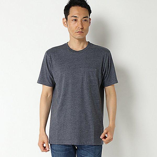 強力抗菌半袖杢調クルーネックTシャツ