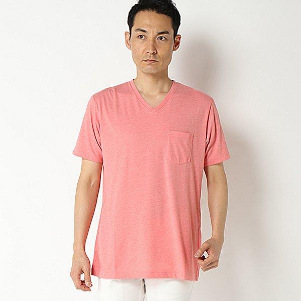 強力抗菌半袖杢調VネックTシャツ