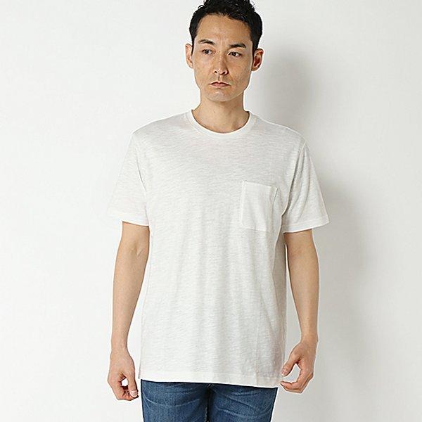 強力抗菌半袖細スラブクルーネックTシャツ