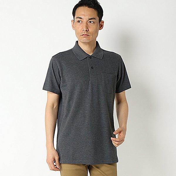 鹿の子無地半袖ポロシャツ