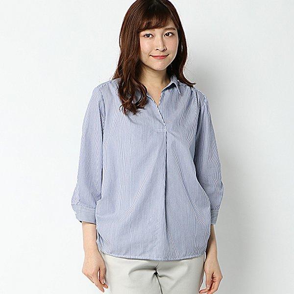 7分袖ロールアップスキッパーシャツ
