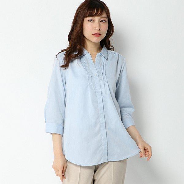 7分袖ロールアップシャツ