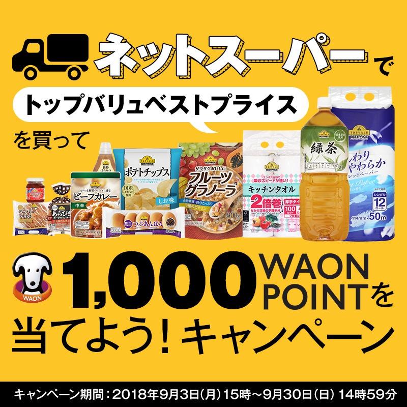 1,000WAON POINTを当てよう!キャンペーン