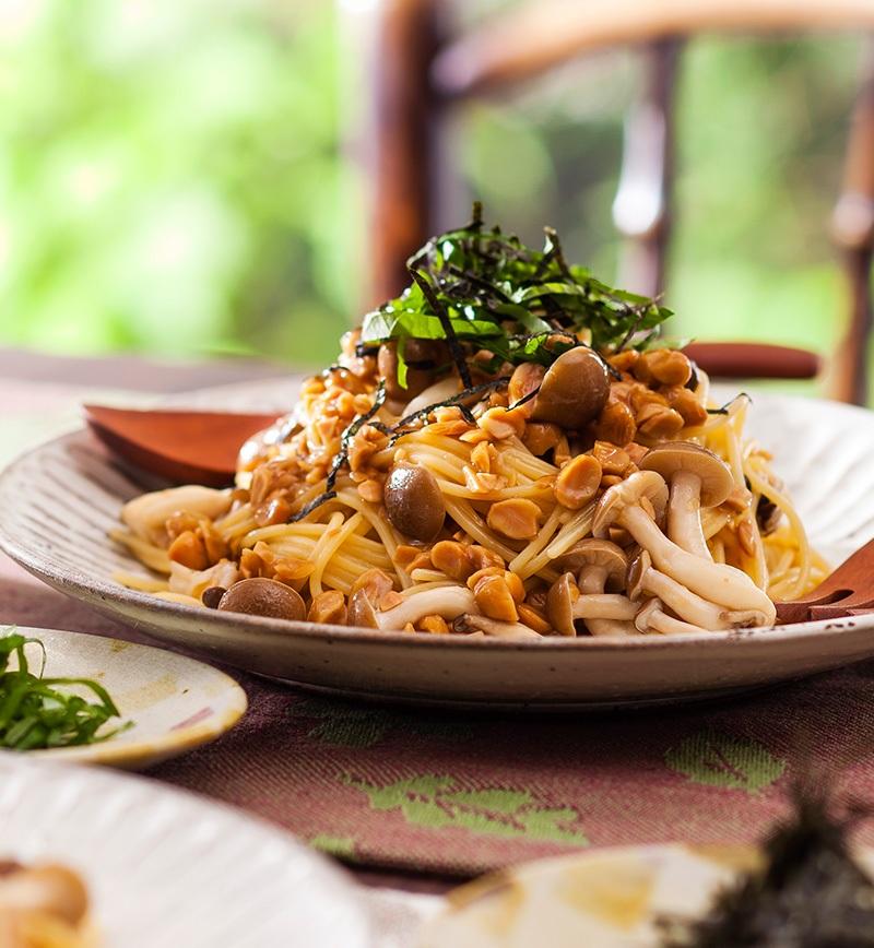 ランチは手軽に 和風納豆スパゲティ レシピ画像