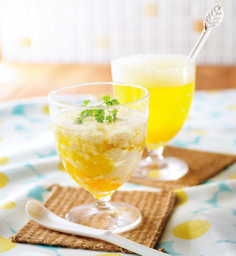 マンゴービネガーのソイラテ&ソーダ レシピ画像
