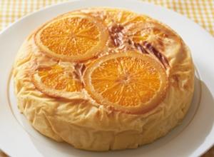 オレンジ風味の スフレケーキ