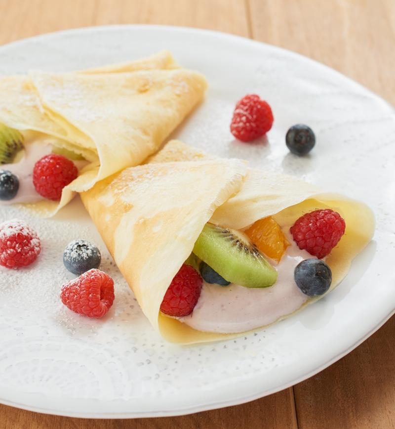 ギリシャヨーグルトのアサイーベリークレープ レシピ画像