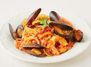 ムール貝のトマトパスタ レシピ画像