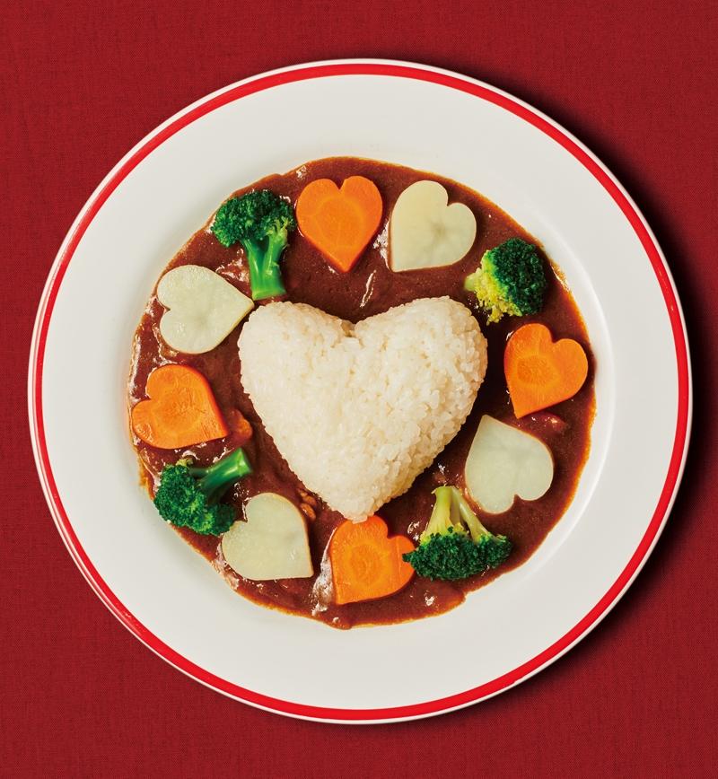 ハートライスの欧風カレー レシピ画像