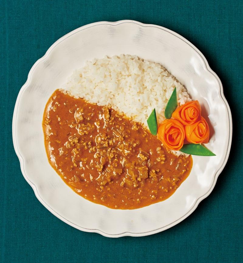 母の日に印度風カーネーションデコカレー レシピ画像