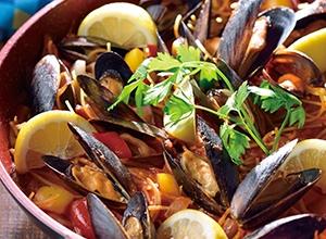 ムール貝のパスタパエリア レシピ画像