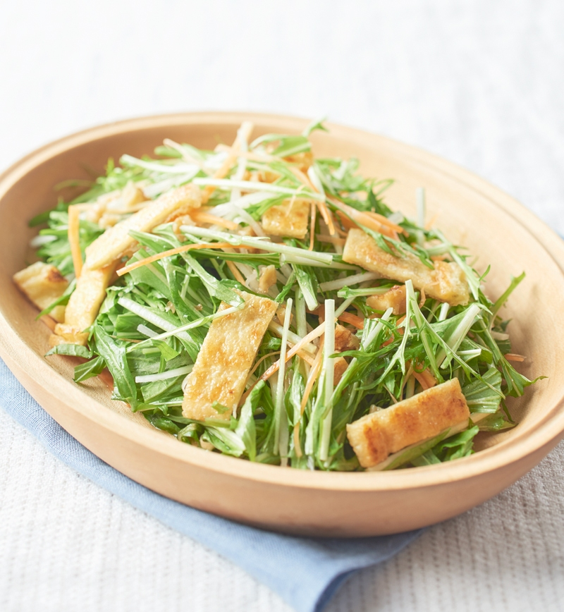 シャキシャキ水菜サラダ - イオンのプライベートブランド TOPVALU ...
