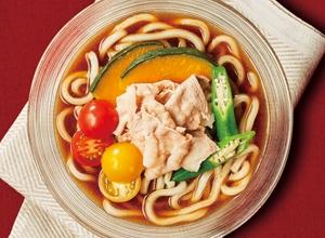 夏野菜の冷製欧風カレーうどん