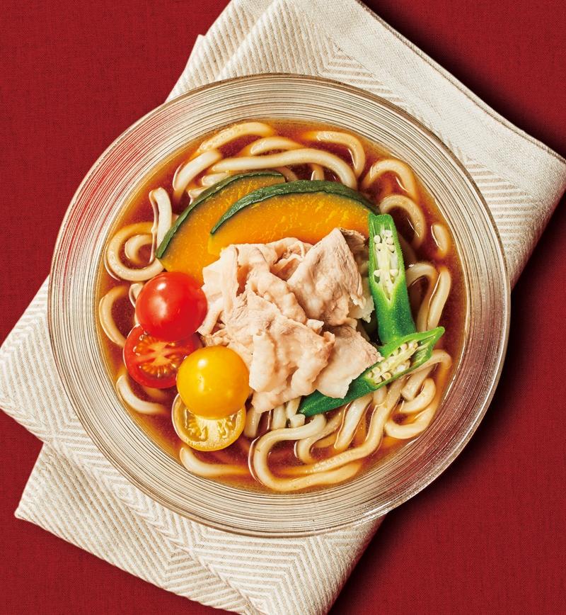 夏野菜の冷製欧風カレーうどん レシピ画像