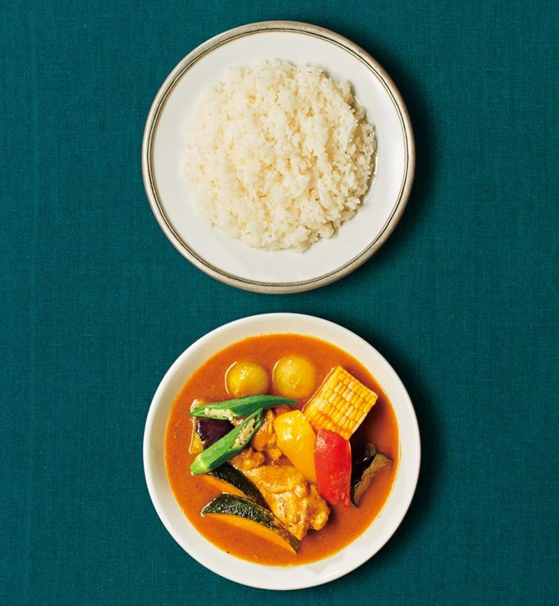 夏野菜たっぷりの印度風スープカレー レシピ画像
