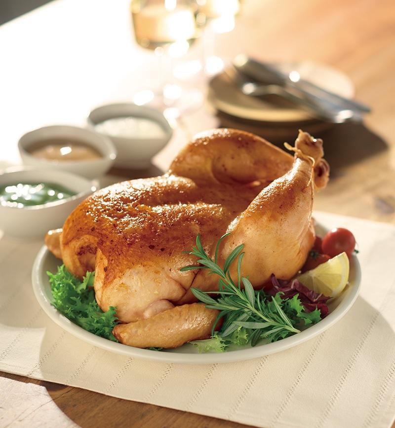 フライパンで作る純輝鶏ローストチキン レシピ画像