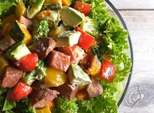 グリル野菜とナッツのチョップドサラダ  ☆わさびマヨネーズ風味☆ レシピ画像